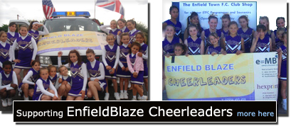 3Gwebdesign eMBgroup and Enfield Blaze Cheerleaders